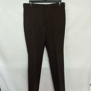 Men's All Season Brown Dress Pants Size 36x34 R-33